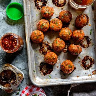 Orange Chicken Meatballs via Bakers Royale copy