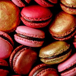 Black Cherry Macarons | Bakers Royale