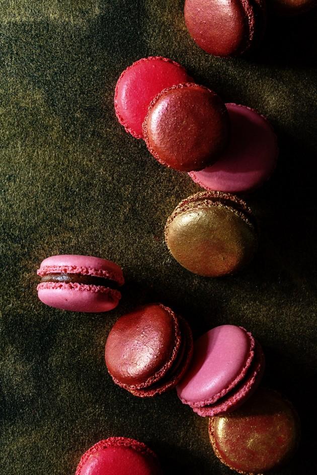 Black Cherry Macarons - Bakers Royale