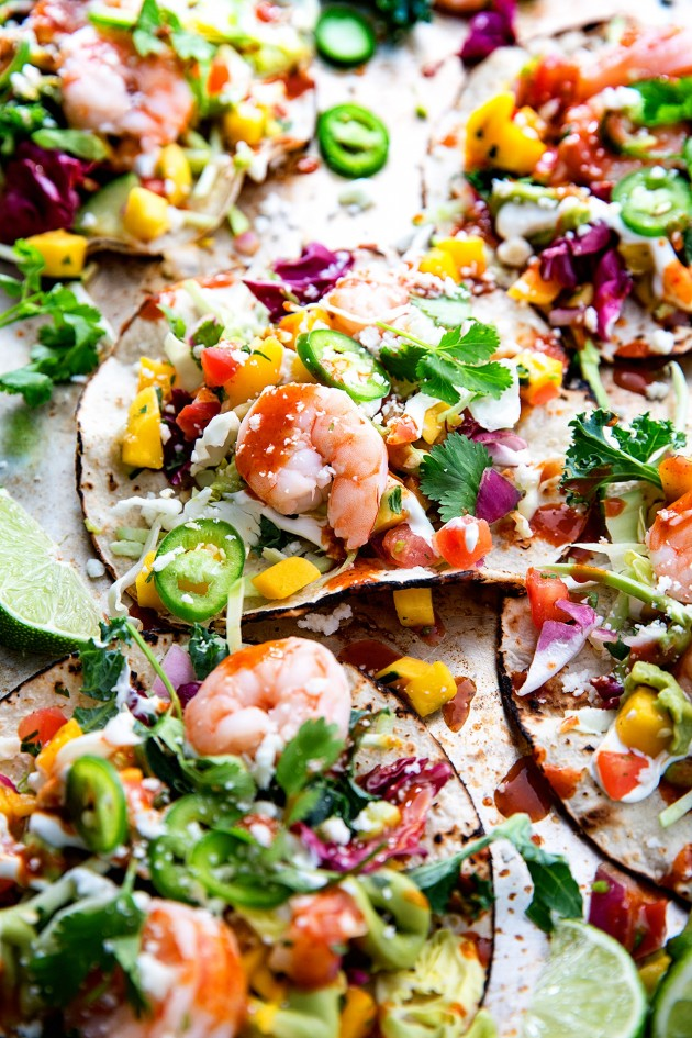 Shrimp Tacos via Bakers Royale