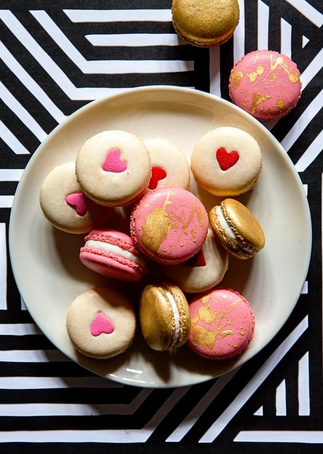 Valentine's White Chocolate Macarons