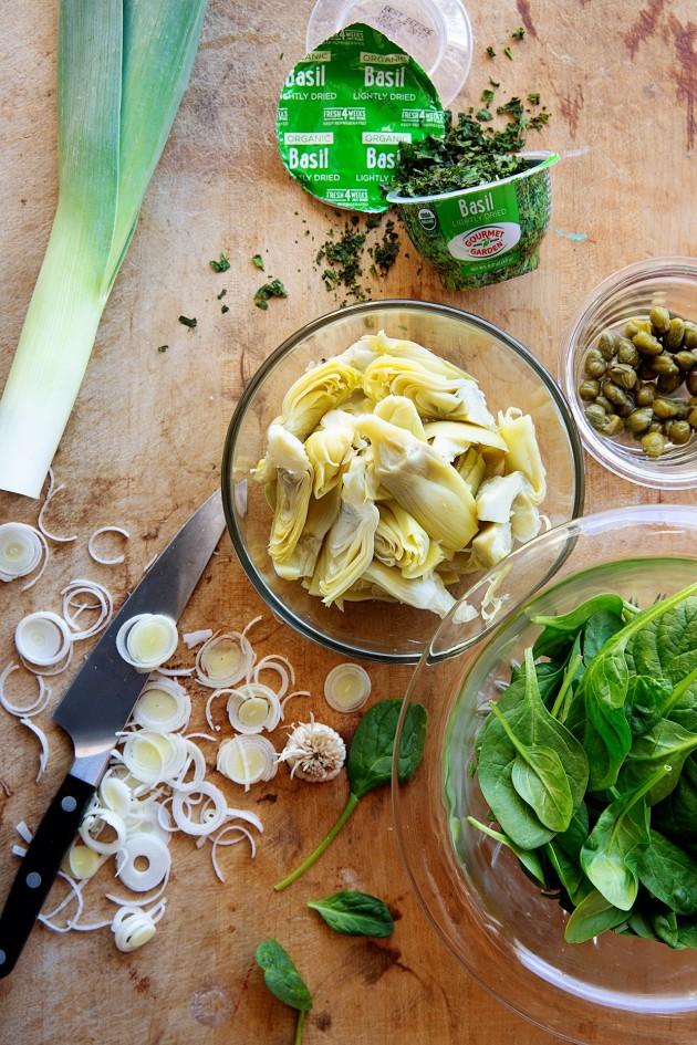 Gourmet Garden Spinach and Artichoke Dip Prep | Bakers Royale