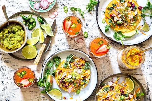 Grilled Chicken and Corn Relish Tostadas _ Bakers Royale
