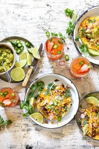 Grilled Chicken and Corn Relish Tostadas