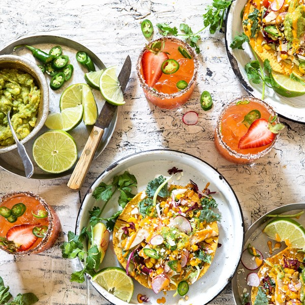 Grilled Chicken and Corn Relish Tostadas via Bakers Royale 600x600