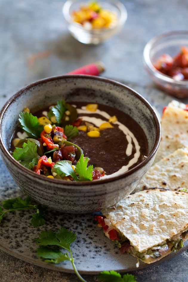 One Potato Box | Black Bean Soup and Quesadilla - Bakers Royale