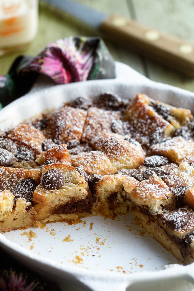 Chocolate Croissant Bread Pudding - Bakers Royale