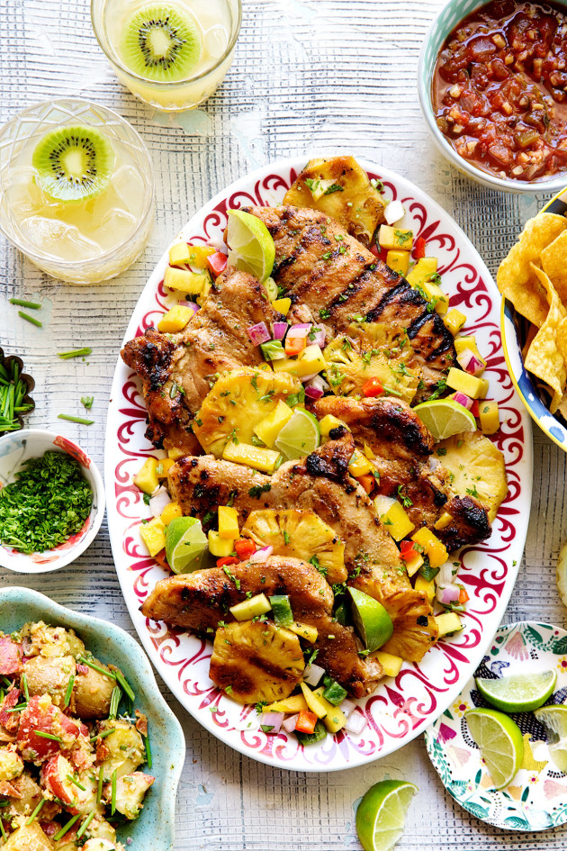 Grilled Mojo Chicken and German Potato Salad
