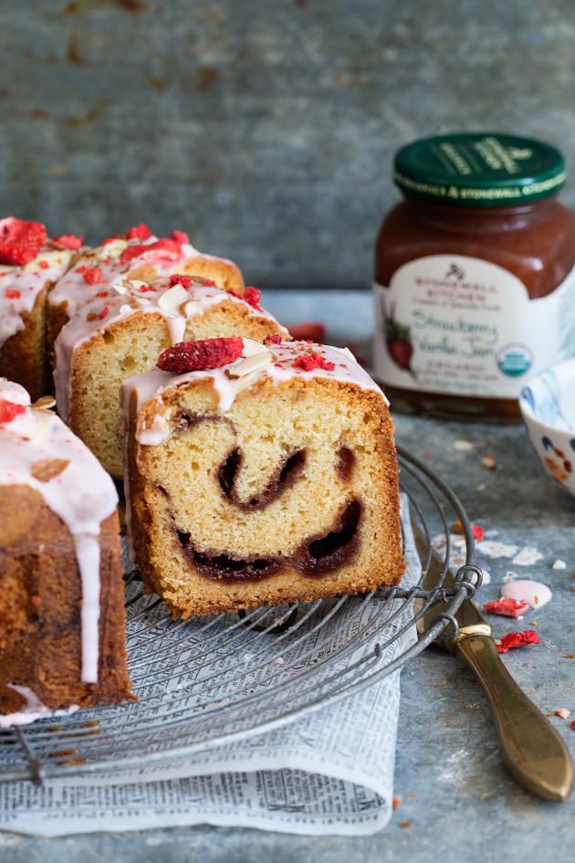 Strawberry Vanilla Jam Cake _ Bakers Royale