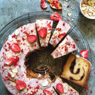 Strawberry Vanilla Jam Cake via Bakers Royale