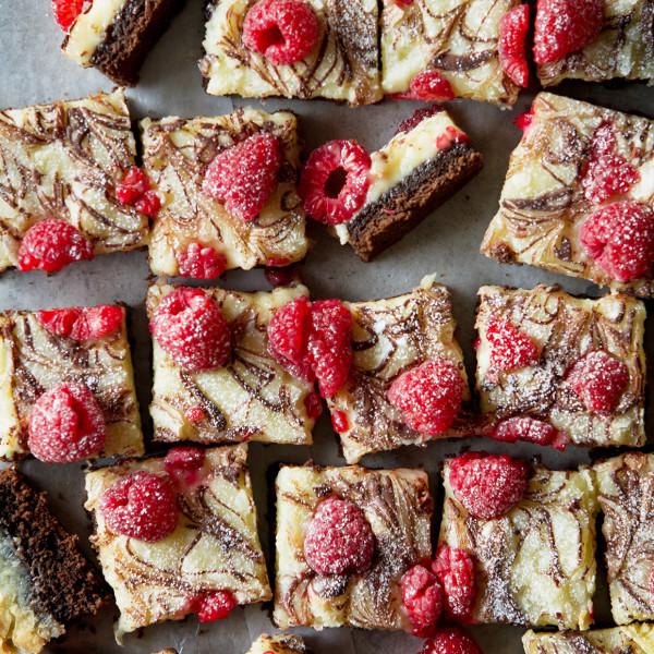 Chocolate Raspberry Ooey Gooey Bars | Bakers Royale