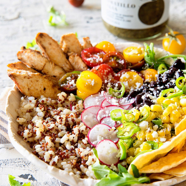 Healthy Taco Bowl via Bakers Royale 600x600