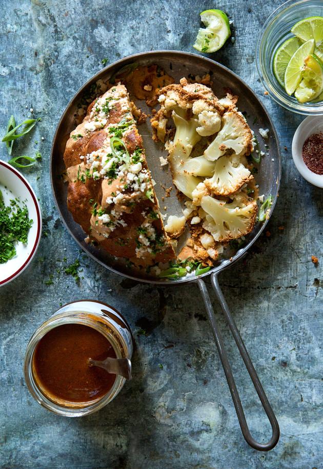 Whole Roasted Chipotle Salsa Cauliflower