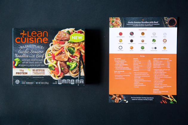 Lean Cuisine Garlic Sesame Noodles with Beef | Bakers Royale