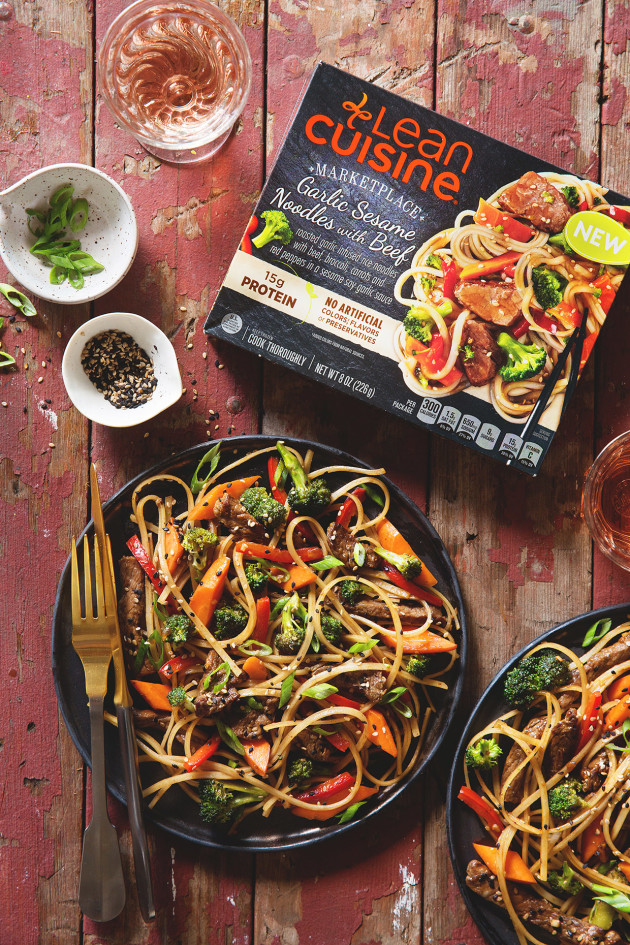 Lean Cuisine Garlic Sesame Noodles with Beef via Bakers Royale