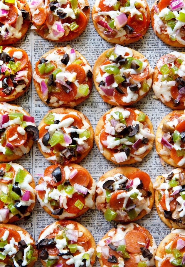 Mini Pizza Bites via Bakers Royale