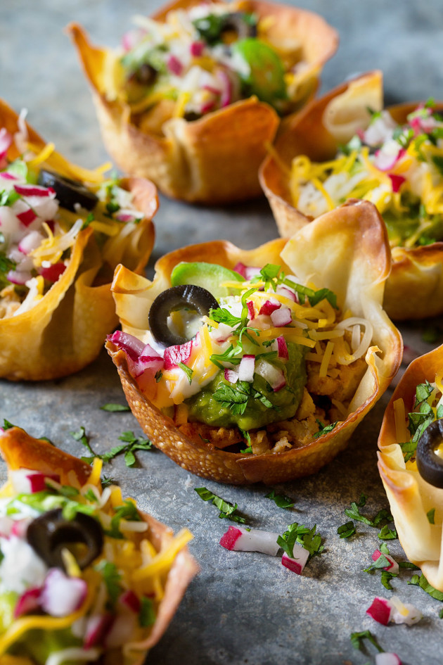 Mini Taco Bowls - Bakers Royale