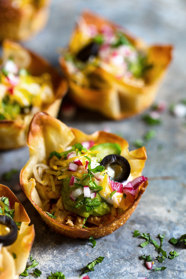 Mini Taco Bowls via Bakers Royale