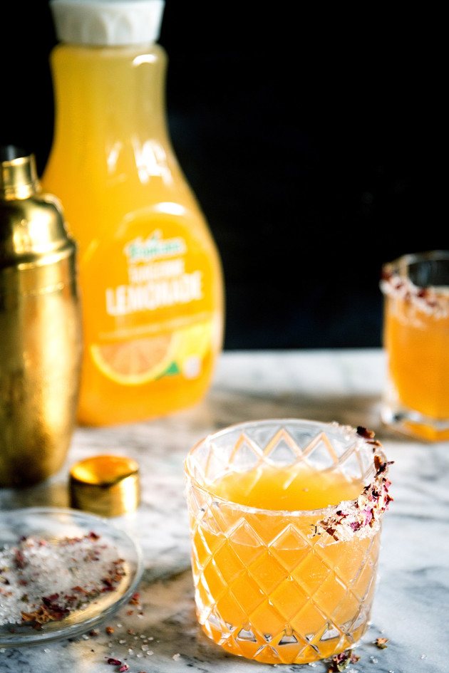 Citrus Rose Sidecar via Bakers Royale