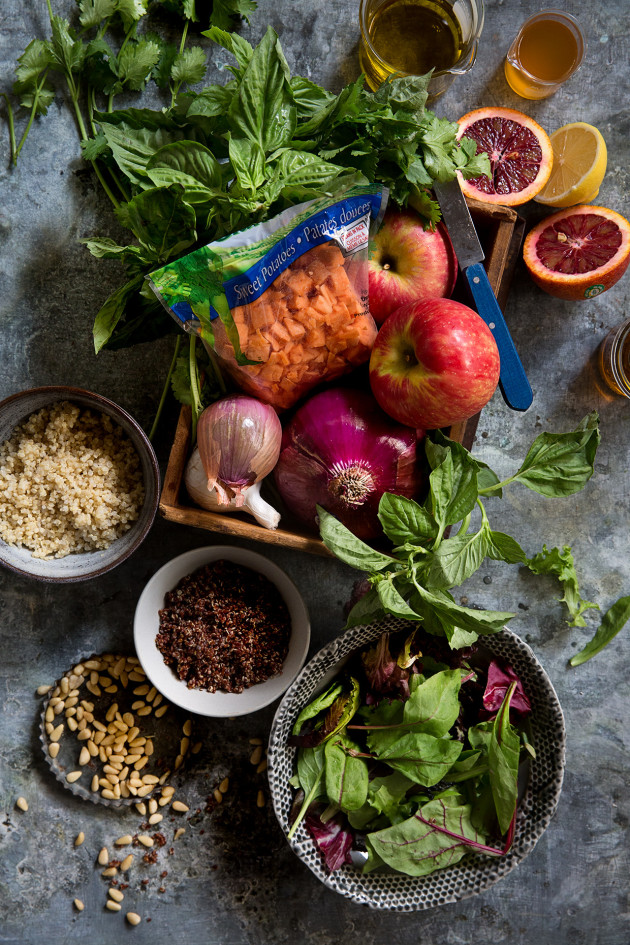 Healthy-ish Thanksgiving | Sweet Potato and Apple Quinoa Salad | Ingredients via Bakers Royale