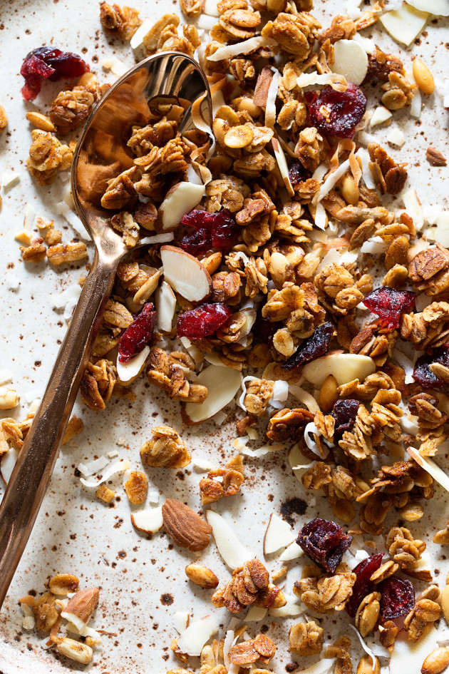 Orange and Cranberry Granola via Bakers Royale
