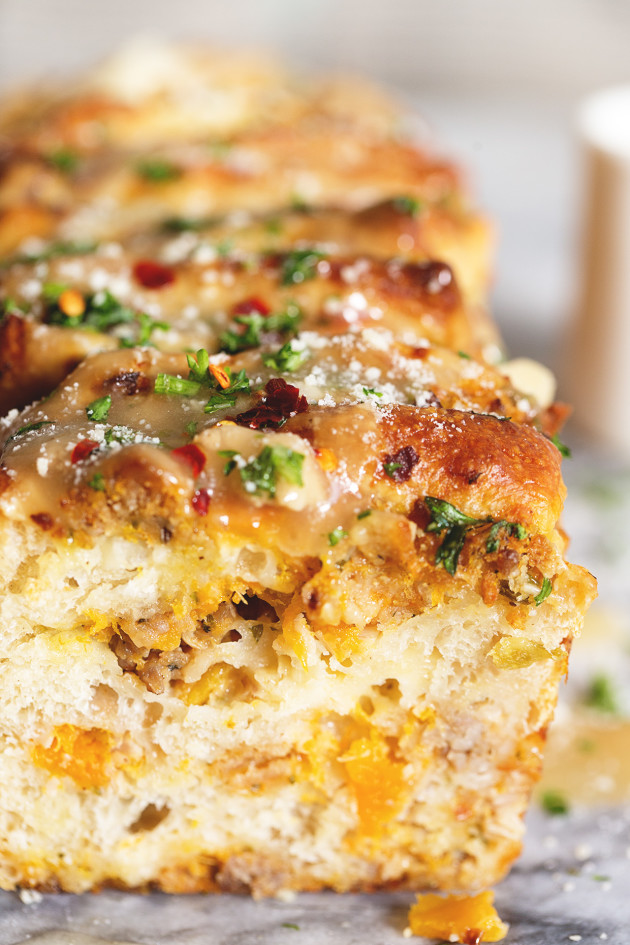 Thanksgiving Leftover Pull-Apart Bread | Bakers Royale