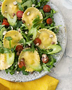 Golden Beet Ravioli Salad