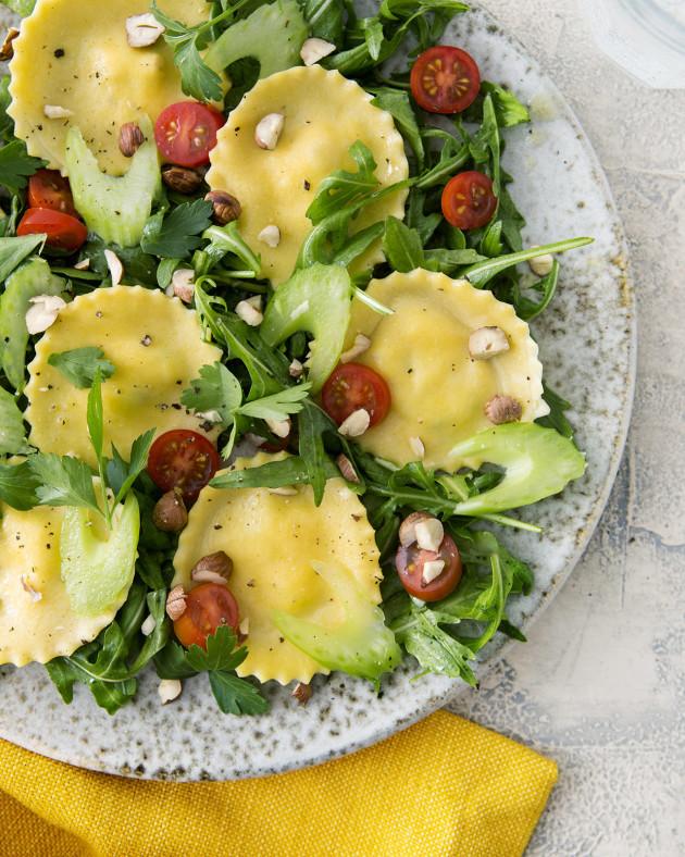 Golden Beet Ravioli Salad