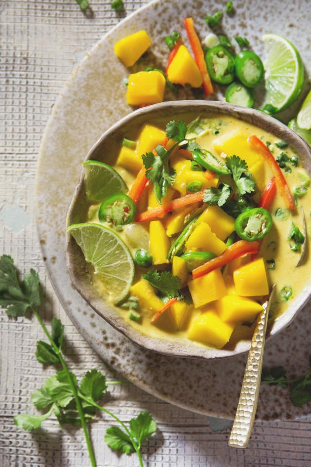 Mango Coconut Curry Soup