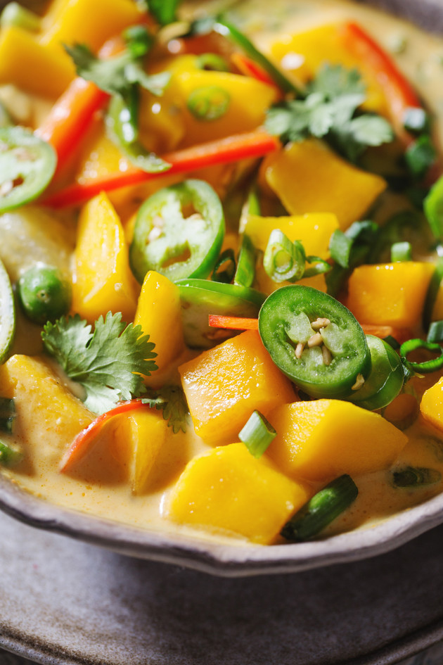 Mango Coconut Curry Soup - Bakers Royale
