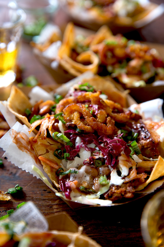 Southern BBQ Nachos via Bakers Royale