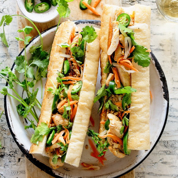 Grilled Chicken Banh Mi via Bakers Royale