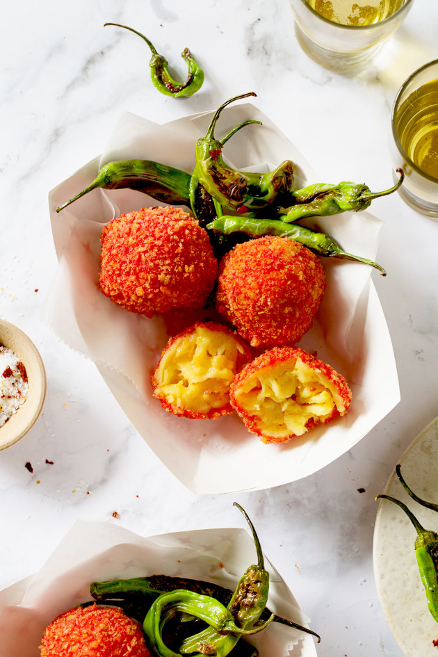 Cheetos Flamin' Hot Zesty Fried Mac and Cheese Balls - Bakers Royale