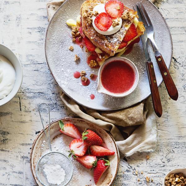 Strawberry Shortcake French Toast via Bakers Royale 600x600