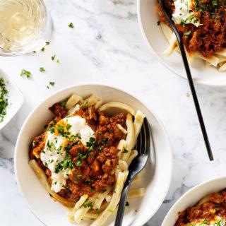 Chorizo Bolognese via Bakers Royale