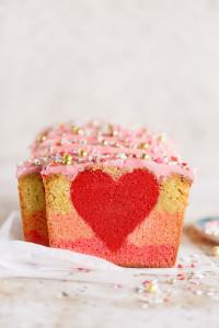 Valentine's Peek-a-boo Ombre Cake