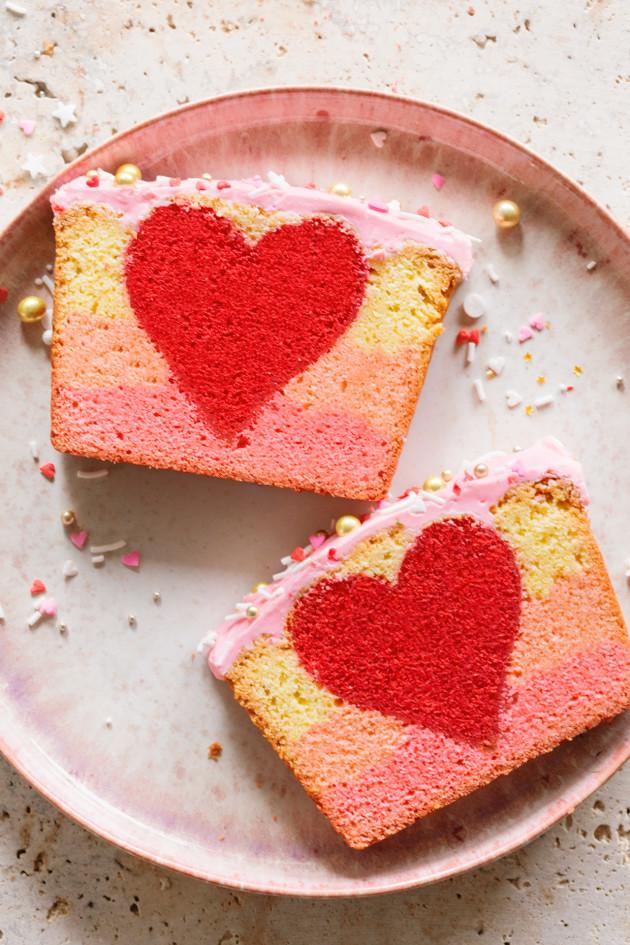 3 Valentine's Peek-a-Boo Ombre Cake via Bakers Royale