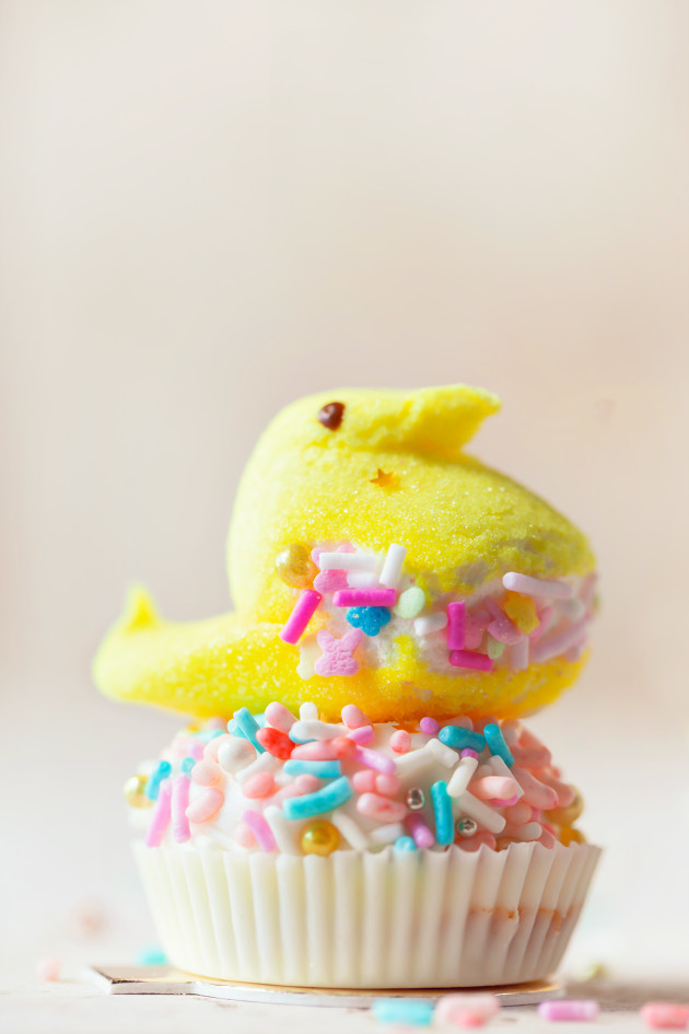 Easter Candy Cupcakes via Bakers Royale