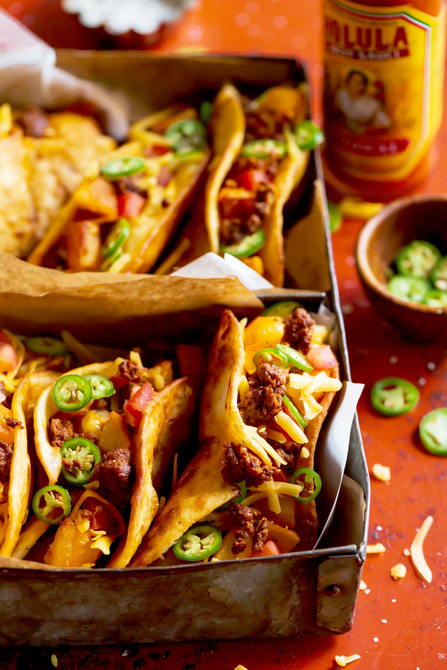 Crunchy Chorizo Tacos via Bakers Royale