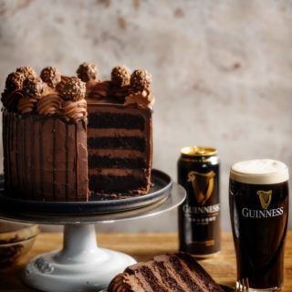 Chocolate Guinness Cake recipe with step-by-step photos.