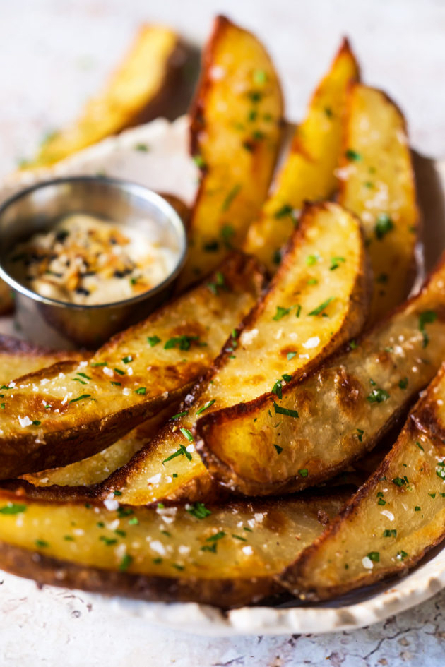 This no-fuss, low prep, oven baked recipe yields the the crispiest potato wedges.