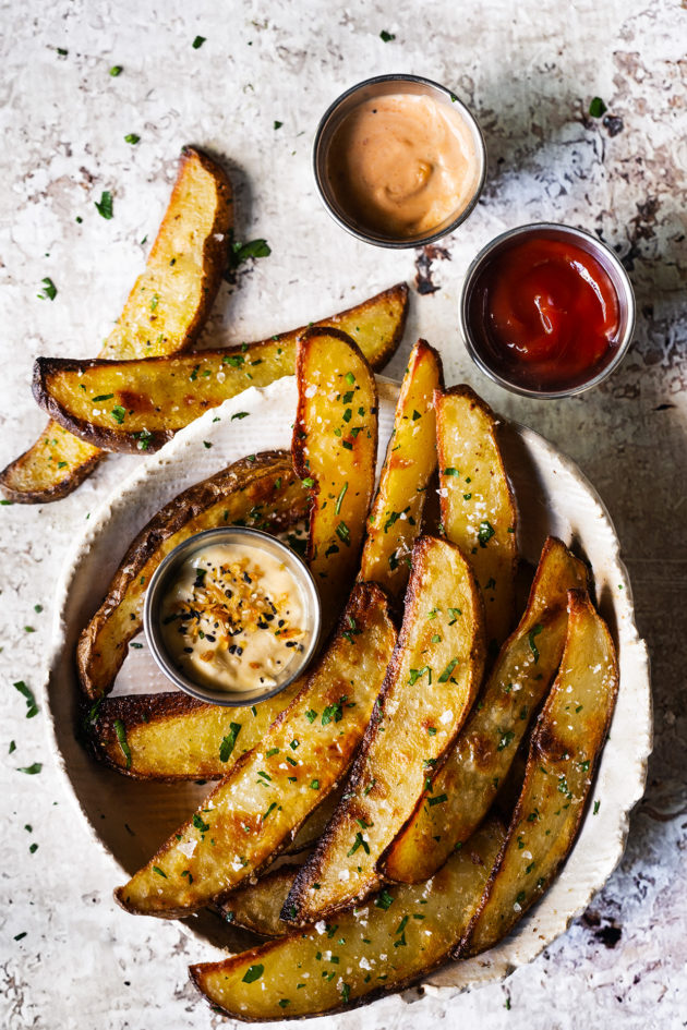 This no-fuss, low prep, oven baked recipe yields the the crispiest potato wedges